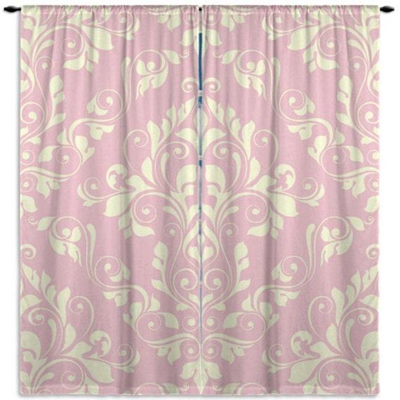 Elegant Pink Window Curtains Victorian Window Treatments