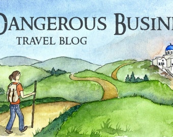 Custom illustrated blog or website header featuring original hand-drawn watercolor artwork and sketches