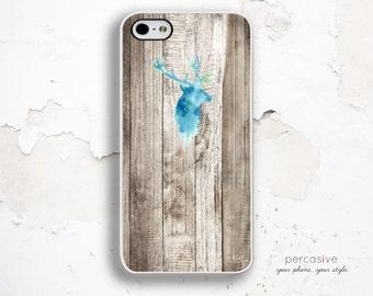 iPhone 6 Case Deer - iPhone 4 Case, Wood iPhone 4s Case, iPhone 5s Case, Rustic Wood iPhone 6 Case Deer Head :0765