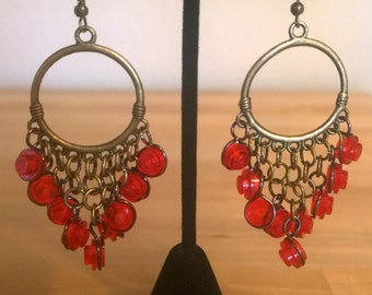 Lego Chandelier Earrings, Circle