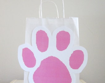 Dog Paw Print Party Favor, Goody, Gift Bags