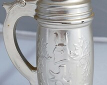 "Vintage Avon After Shave ""Windjammer""  Beer Stein Tankard with Knights shield embossed on side. 1960-70s Collectible Decanter"
