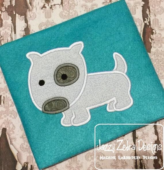 Puppy 56 Applique embroidery Design - dog Applique Design - puppy Applique Design