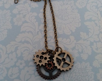 Small Gear Charm Necklace