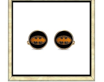 Steampunk Batman - Bronze Plated Cufflinks