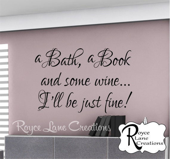 bathroom wall decor a bath a book and some by roycelanecreations,