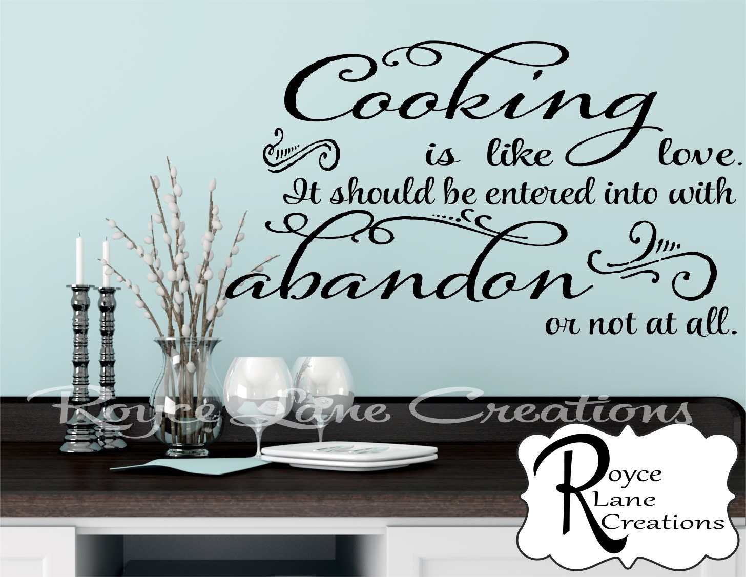 Kitchen Wall Decal  Cooking Is Like Love Kitchen Quote Decal Kitchen Quote Wall  Decals  Kitchen Decor Kitchen Wall Decor Kitchen Wall Art