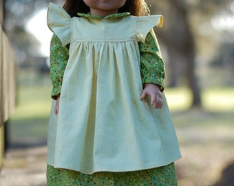 "18"" Doll Prairie Dress and Pinafore { You pick fabric option available!!!}"