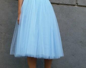 "Women Tulle Skirt, Tea length Tutu Skirt, Princess Skirt,  Wedding Skirt - – ""Choose to be me' / EXPRESS SHIPPING /MD 10025"