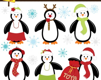 Cute penguin clipart   Etsy   {Französische küche clipart 57}