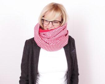 "Winterloop ""Eddie"" with fleece / / red - red white checkered"