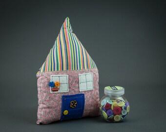 Little Pink House Pillow