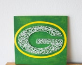 Green bay Packers, GreenBay Packers, Packers Baby, Green Bay Baby, Packers Decor, Green Bay Decor, Green Bay Sign, Packers Sign, String Art