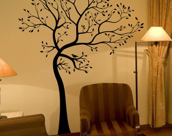 BIG Tree with Bird Wall Decal Deco Art Sticker Mural - FREE SHIPPING!