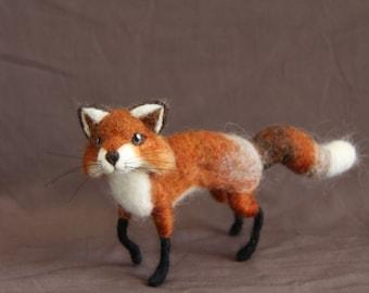 Needle Felted Critter - Mr Fox - Soft Sculpture