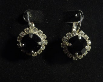 BEEutiful Jet Black Swarovski Crystal Wedding Earrings