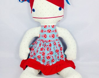 Handmade doll, Personalized Doll, Rag Doll