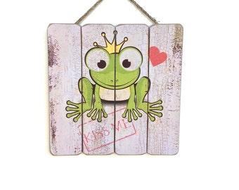 Nursery Decor, Nursery Wall Art, Gift Ideas, Kiss Me, Wood Love Sign, Love Sign Wood, Baby Room Decor, Baby Room Ideas, Wall Art, Wall Decor