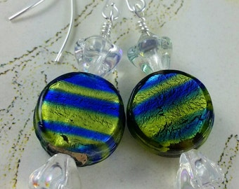 Lampwork Glass Candy Earrings