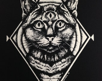 Third Eye Cat  Back Patch | Patches | Punk Patches | Horror | Black