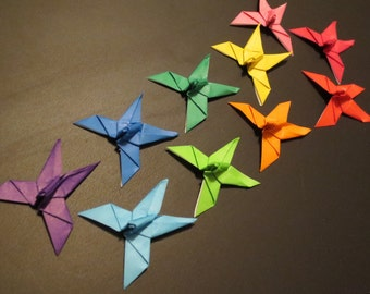 Origami Butterfly Magnets - Set of 10