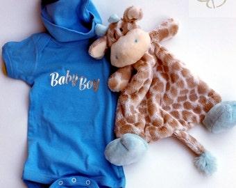 Baby - Baby Boy Baby Onesie & Hat Set