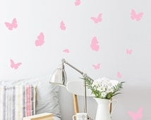 Butterfly Wall Decal / 54 Butterfly Wall Sticker / Bedroom Wall decal / Nursery decal /
