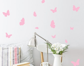 Butterfly Wall Decal / 54 Butterfly Wall Sticker / Bedroom Wall decal /  Nursery decal / Butterflies Wall Decal / gift
