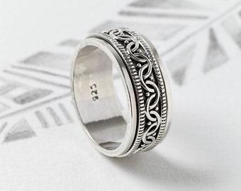 Spinner Rings,Spinning Rings,Spin Rings,Men's Rings,Unisex Rings,Worry Rings,Silver Rings,Celtic Rings,Tribal Rings,Boho Rings JR086
