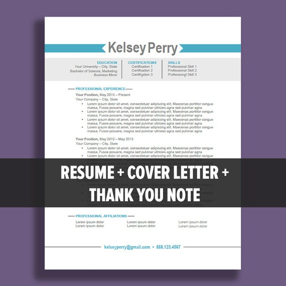 resume template package instant microsoft word