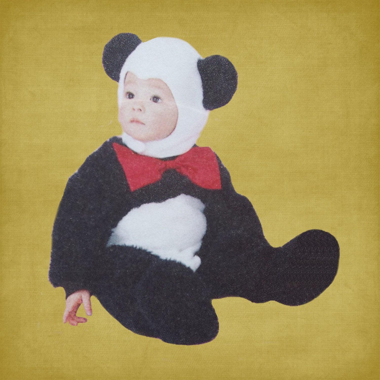 panda bear costume for baby toddler child. Black Bedroom Furniture Sets. Home Design Ideas