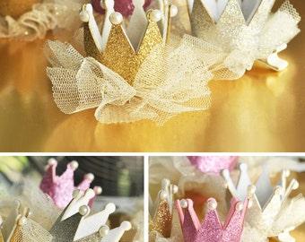 Princess Birthday Crown Tiara Favors - Princess Party Ideas - 1st Birthday Princess Crown Pink Princess Tiara Party Favor 1st Birthday Crown