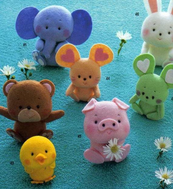 Felt Food Toys R Us : Japanese felt mascot toy accessory sewing pattern ebook
