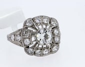 3/4 ct Diamond Ring and Platinum Filigree