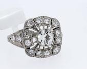 3/4 ct Diamond Ring and Platinum Filigree