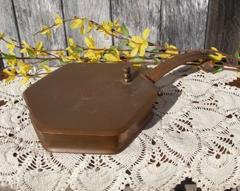 Vintage Copper Silent Butler,  Copper Ash Pan,  Crumb Catcher Stamped HATJE Handmade 27, Copper Home Decor