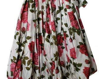 Vintage floral rose bubble skirt