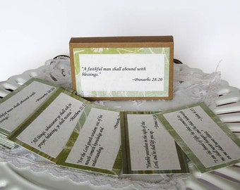 Bible Scripture Cards Faith Bible verse cards Memory Verse Cards Faith prayer cards holder Faith Scriptures Father's Day Gift