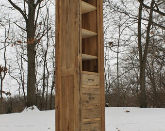 Rustic Linen Cabinet - Reclaimed Barn Wood (Unfinished)  #8985