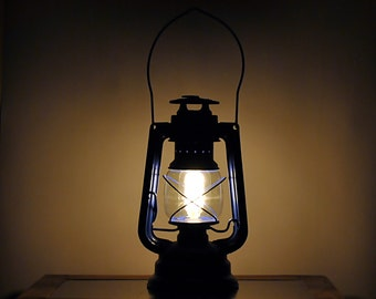 SALE 20% Off !!!  - Upcycled Vintage Railroad Lantern | Rustic Lamp | Kerosene Lamp | Railroad Lamp Light