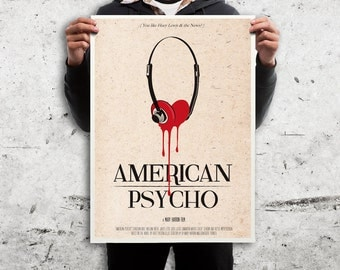 American Psycho alternative poster movie print . Different sizes. Horror Film Artwork geek print