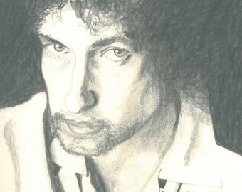 Bob Dylan - Print from original graphite pencil drawing