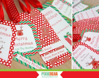 Christmas Gift Tags - Holiday Tags - Editable Christmas Tags - Christmas Labels - Personalized Tags - Printable Gift Tags (Instant Download)