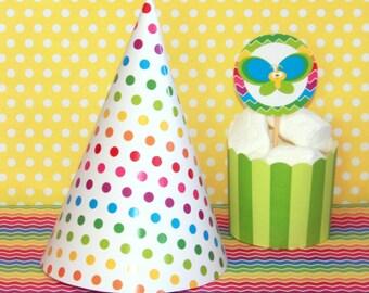 Rainbow Birthday Hat - Rainbow Party Hat - Printable Party Hat - Rainbow Hat - Rainbow Party - Rainbow Birthday (Instant Download)
