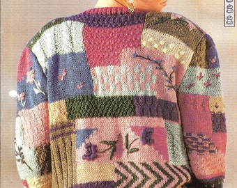 """Knitting pattern - Woman's """"Bouquet"""" jacket cardigan - Instant download"""