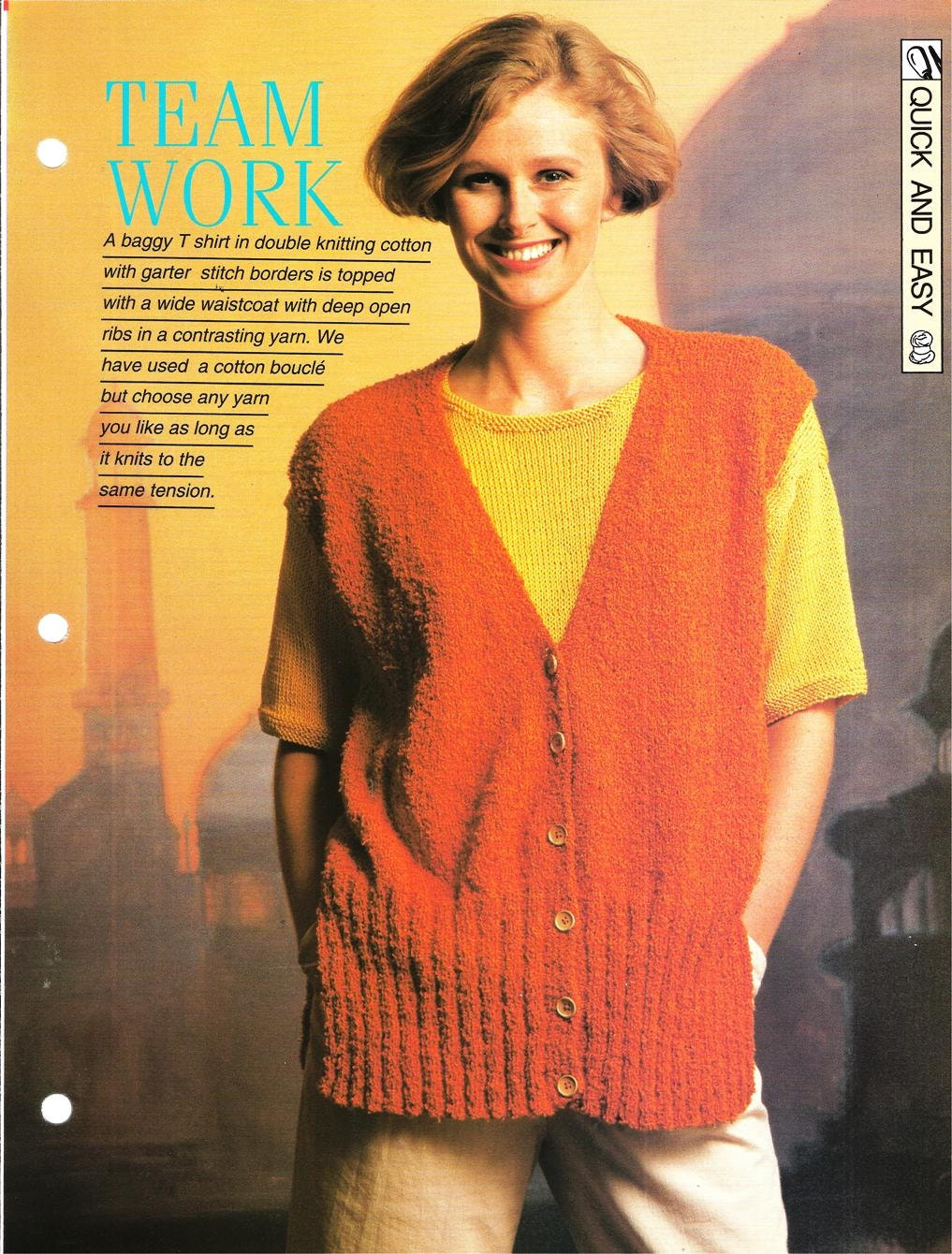 Knitting Women S Work : Knitting pattern woman s team work waistcoat