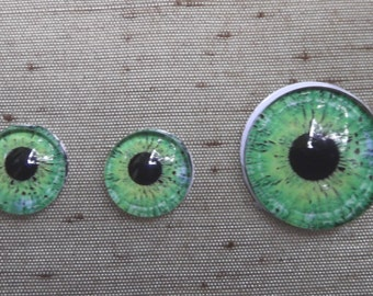 Eyeball Cabs for Pendant and Earrings  Choice of Color