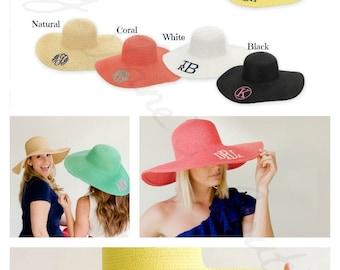 Summer Monogrammed Floppy Hats