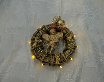 Angels Mini Wreath with lights
