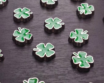 Four Leaf Clover Floating Charm for Floating Lockets-Green Clover-Gift Idea